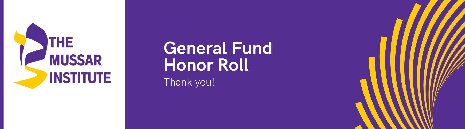 General Fund Banner